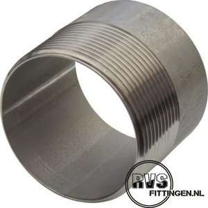 "RVS Lasnippel 1/4""x30mm"